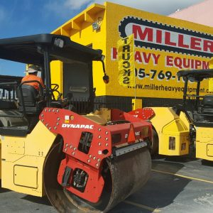 "2011 DYNAPAC CC424HF asphalt rollers -TWO (2) available 3.9L Cummins Xenon light package Dual frequency vibration HF series 66"" drums Low hours"